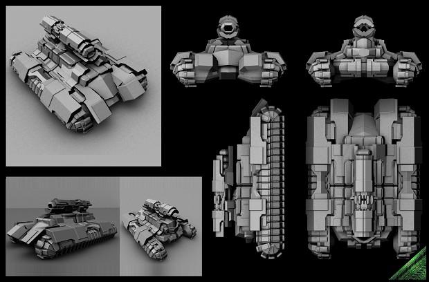 2nd Gen Survivors - Anaconda tank concept 9
