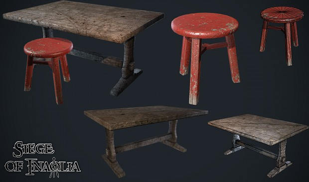 Renders/Screenshots - Table and Chair