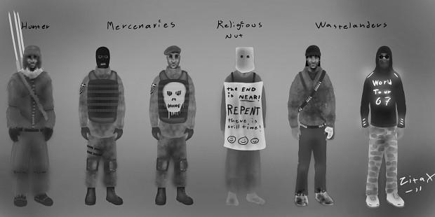 Wastelanders Male Concept