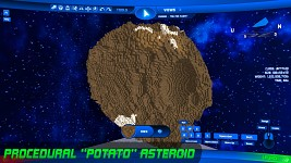 Potato Asteroid w/ Craters & Ore - Noisy!