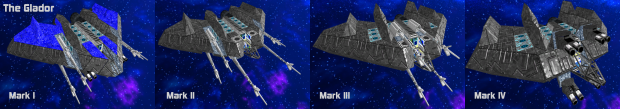 The Glador, Mark 1, 2, 3 and 4