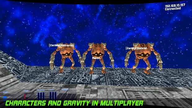 Characters and Gravity Boots in Multiplayer!