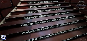 Walking up Atlantis' stairs