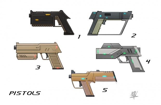 Pistol Weapon Sheet First Version
