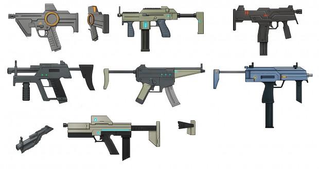 SMG Sheet Concept Art