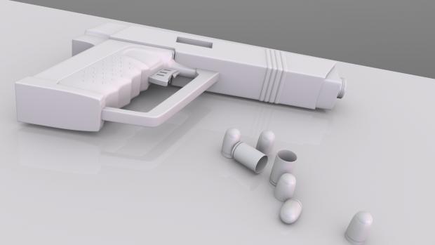 Pistol Render 3D Fan-Made