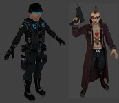 Enforcer and Punk models