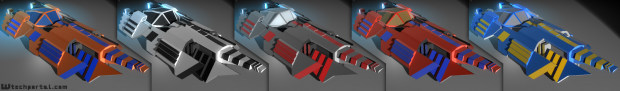 Normal Ship with different color combinations