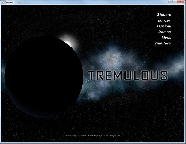 Tremulous GPP UI menus