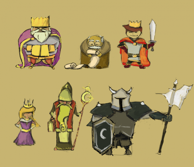 Early character concepts