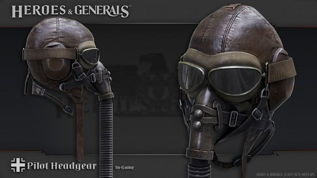German pilot's headgear