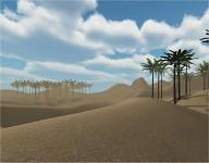 Distance fog testing - Desert area