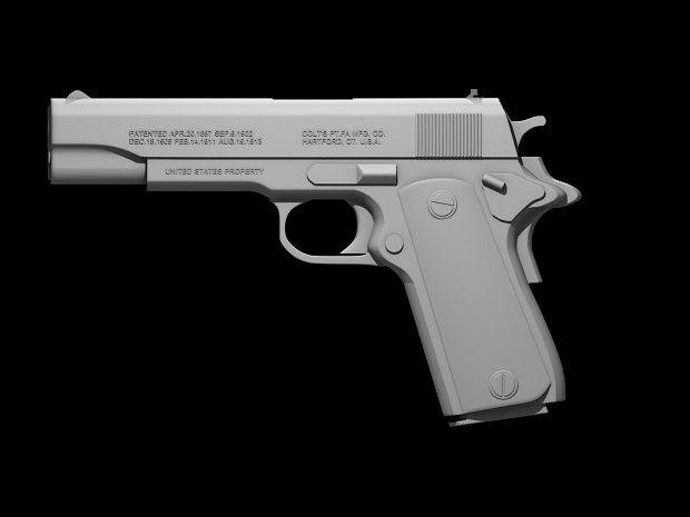 M1911 High-Poly Image