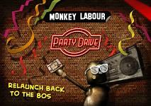 Monkey Labour Relaunch Party Invitation
