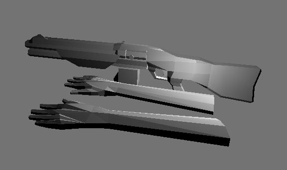 Combatshotgun Model with Hands