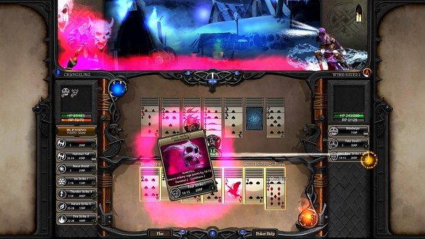 The Wyrd Sister using a Rage Power Card