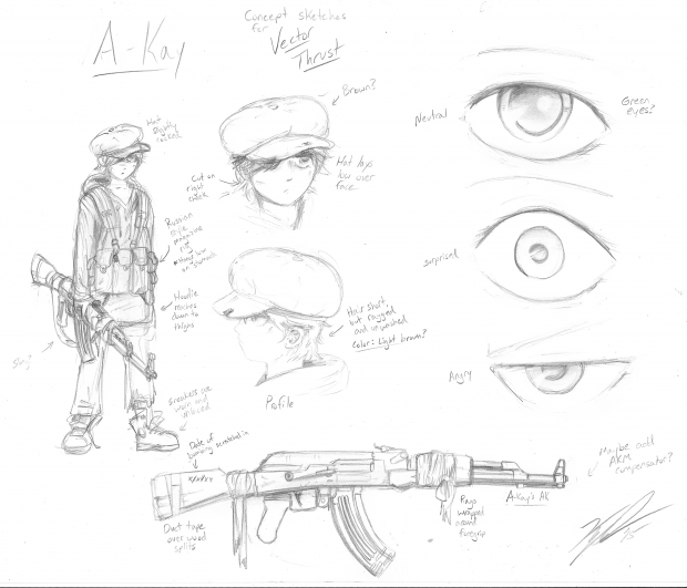 Character Concept Art 01: A-Kay