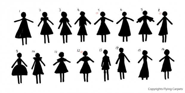 Silhouette concept art for the girl