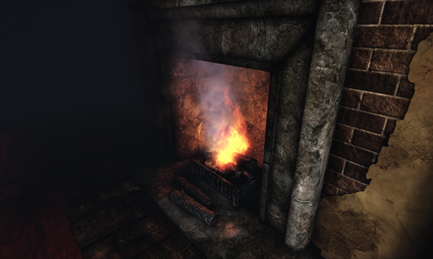 Thanatophobia fireplace.