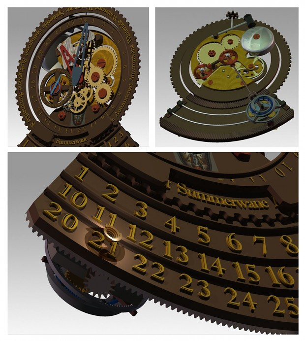 Polished Mechanical Clock