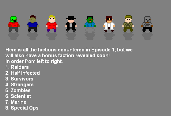 Factions of Episode 1!