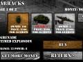 Barracks Menu in Angry World War 1.0