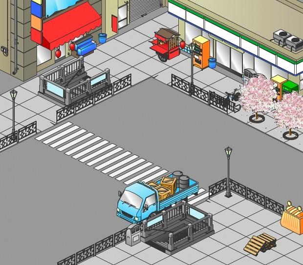 City corner, Japan.
