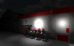 Petrol Station in game