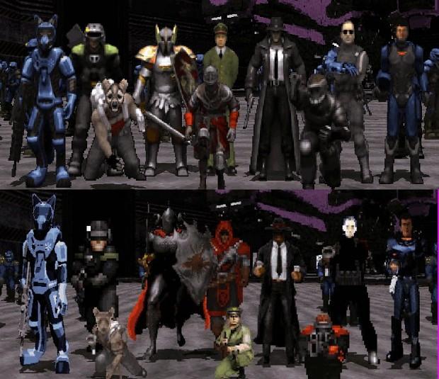 AMC TC Character art comparison