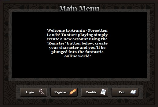 Arania Main Menu (Beta)