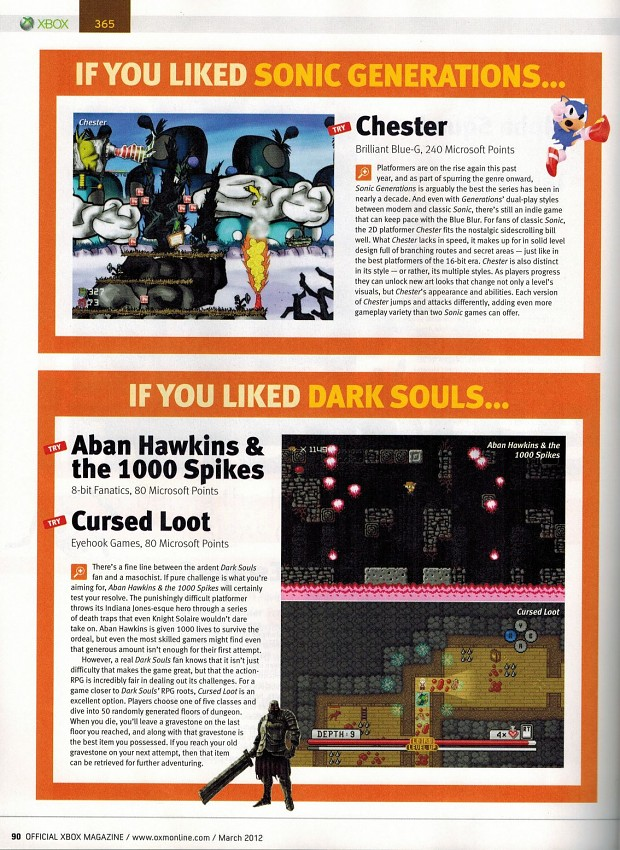 Chester in Official Xbox Magazine!
