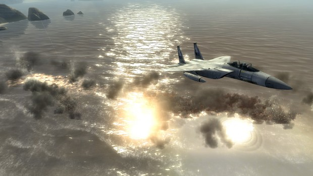 Bombs over water