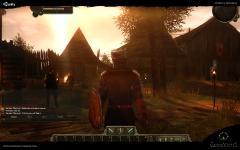 Pre-alpha sunrise, vilage