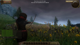 Pre-alpha. Rain is not a problem for real archer.