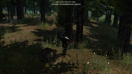 Pre-alpha. Boars in the woods