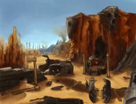 Initial Desert Map Concept