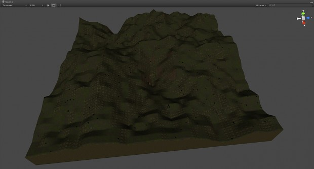 Procedural smooth voxel terrain