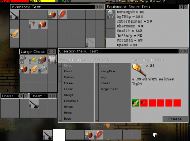 nearly finished improved GUI window