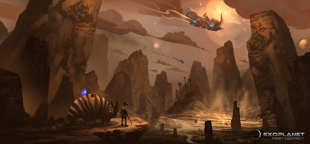 Atmospheric concept art of the K'Tharsis