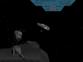 Combat over and unknown planet