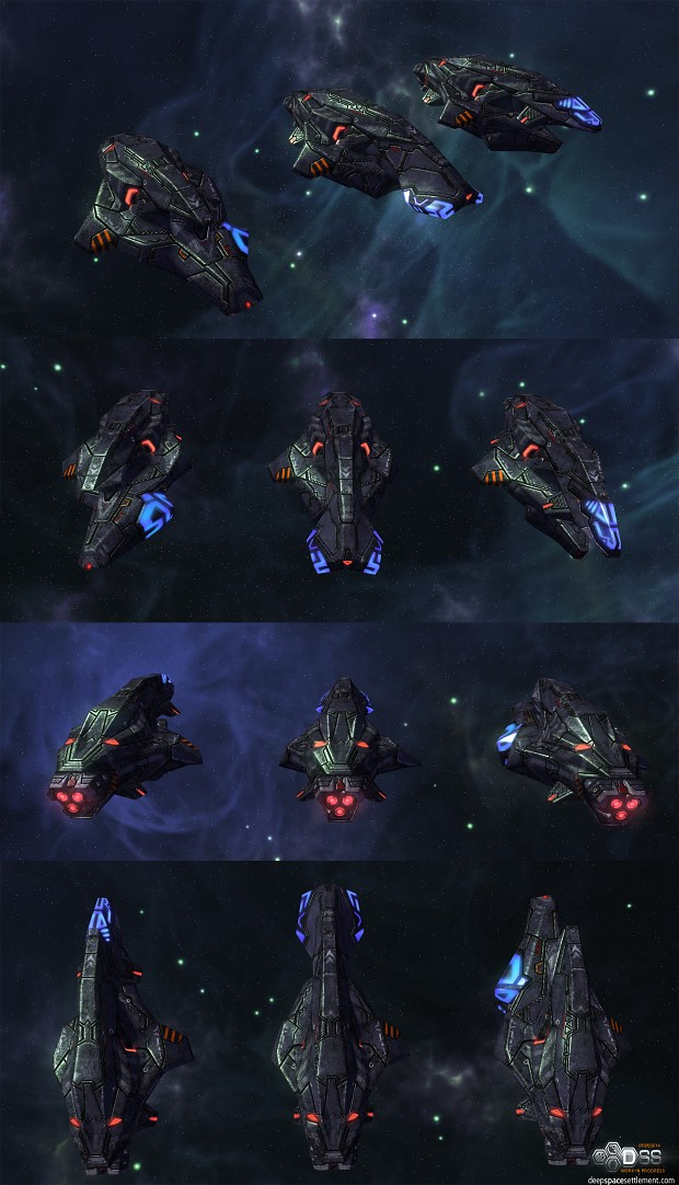 Enemy Corvettes - 3rd sub-faction variation