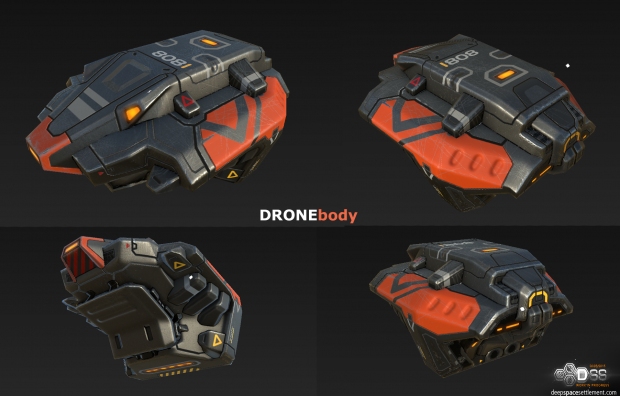 drone body textured