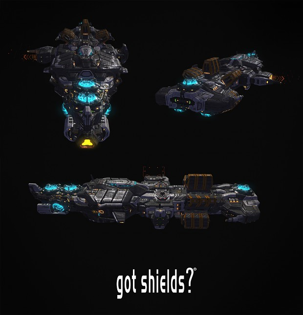 shield generator support component