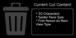 Current list of Cut Content