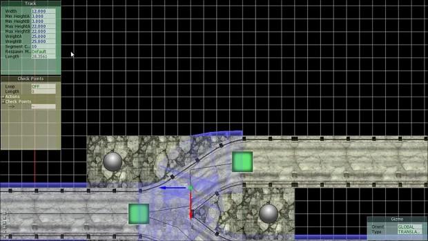 TRACKVERSE Alpha: Split roads tutorial setup