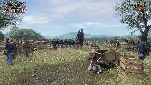 Union regiments marching!