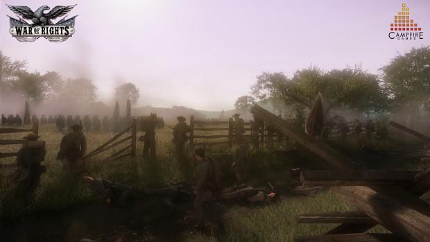 Confederates defending the Sunken Road!