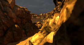 Canyon in the Tutorial Level