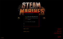 Steam Marines Difficulty Menu
