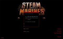 Steam Marines Difficulty Menu